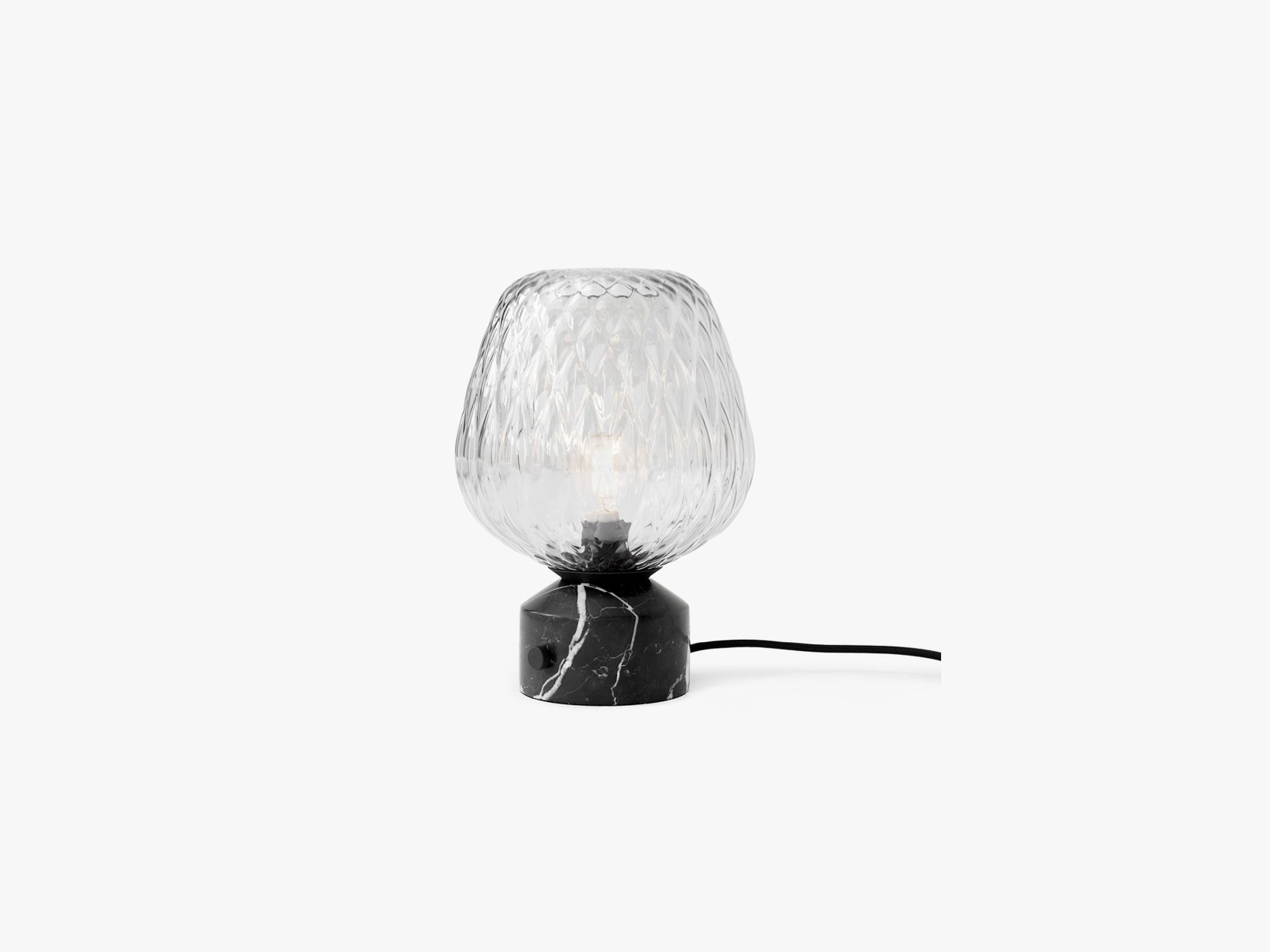 Blown Table Lamp SW6, Marble & Silver fra &tradition