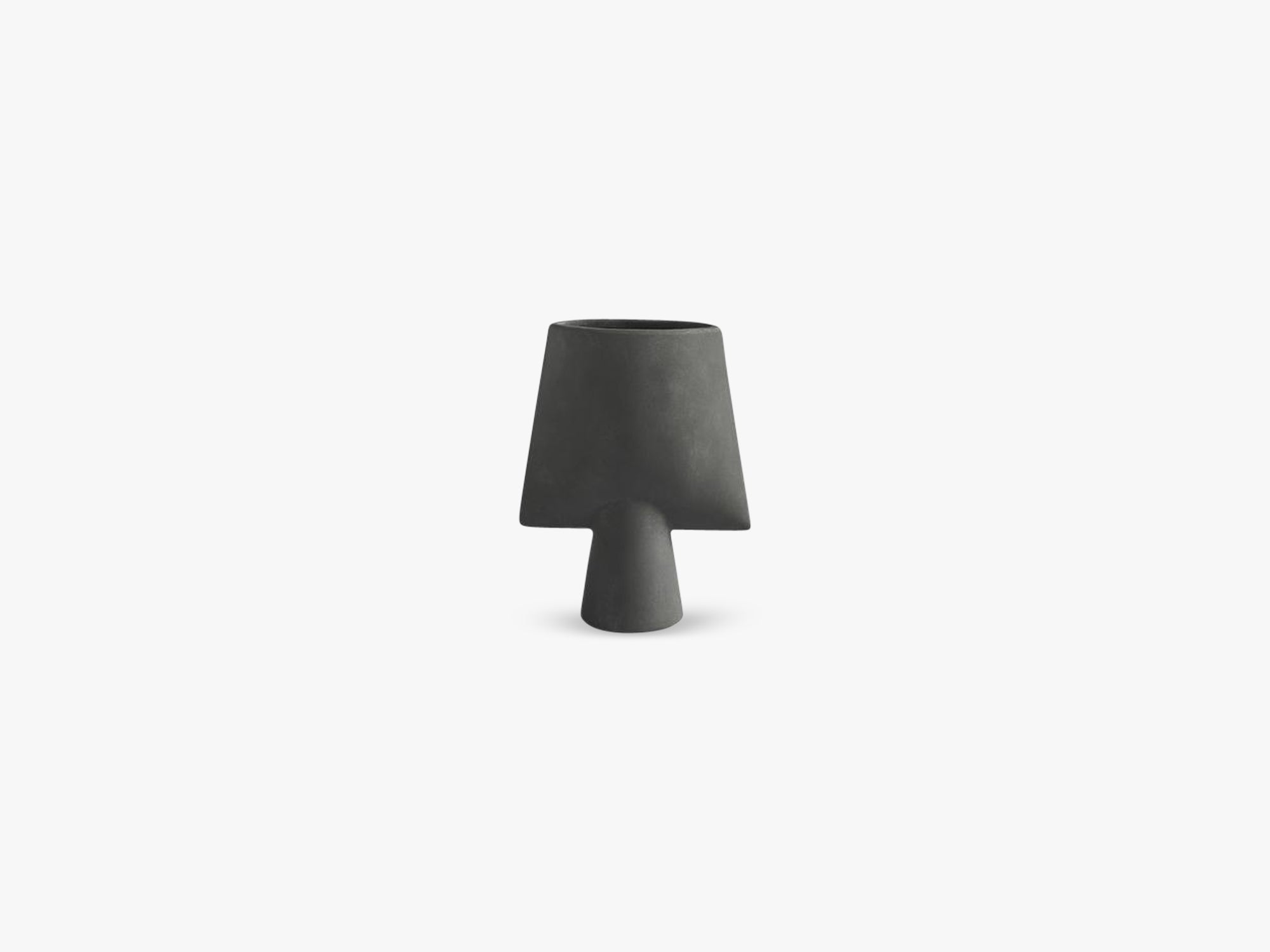 Sphere Vase Square, Mini, Dark Grey fra 101 Copenhagen