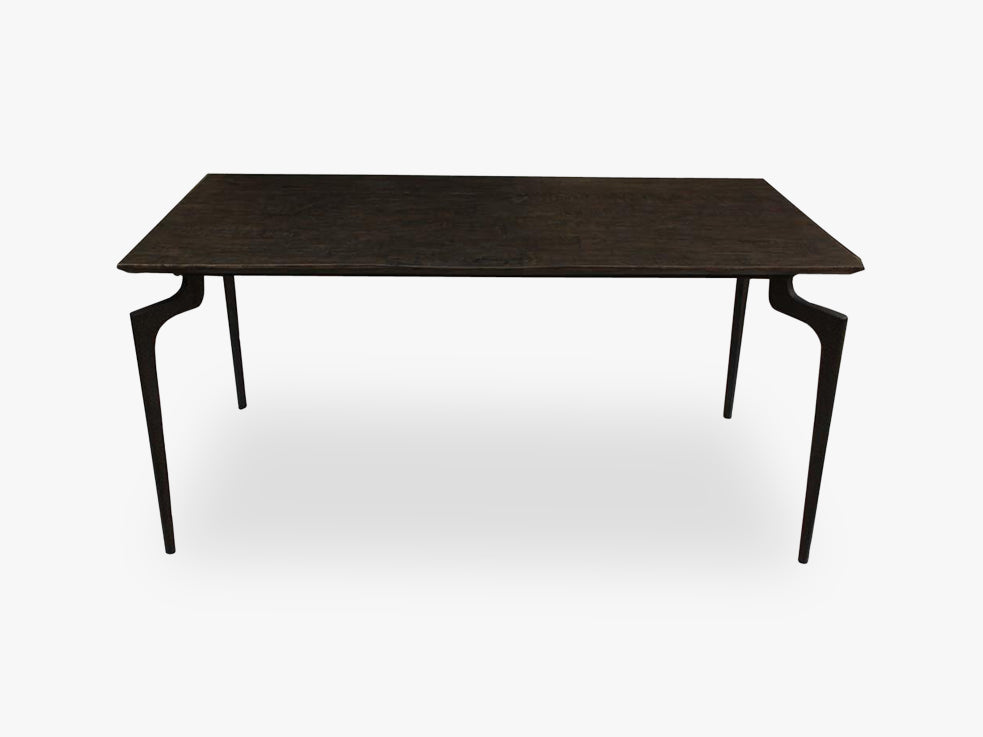 Dining table,wooden w/metal legs, small fra Nordal