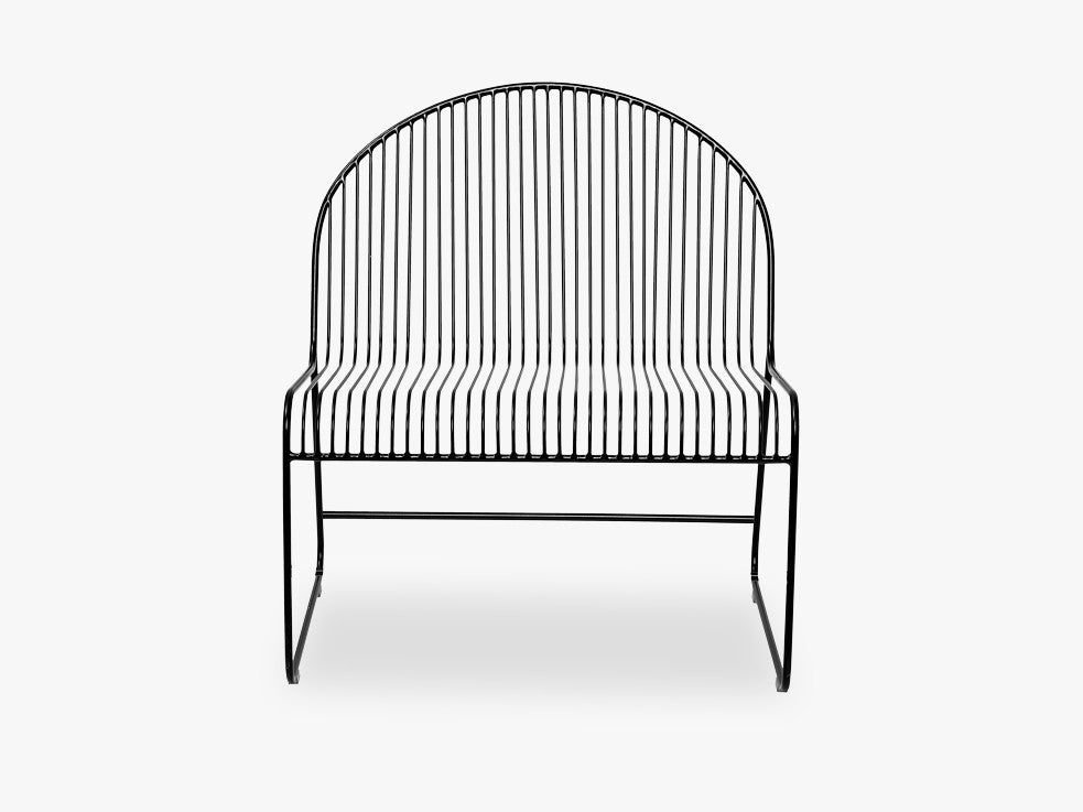 Friend Lounge Chair, Black, Metal fra Bloomingville