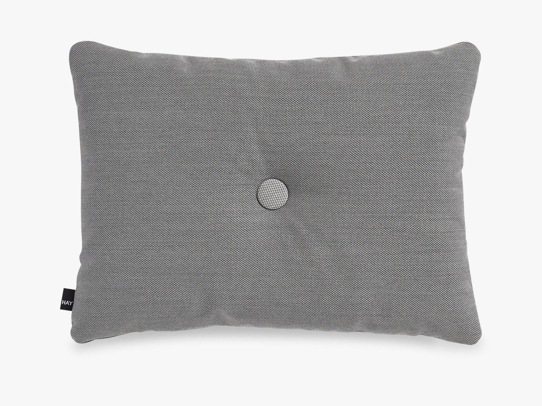 Dot Cushion Steelcut 1 dot, Dark Grey fra HAY