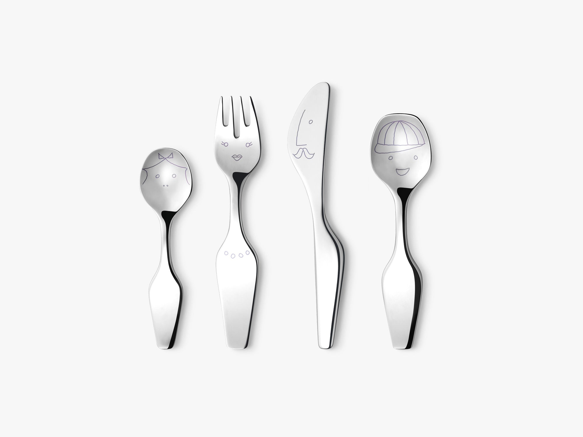 Twist Family Cutlery, 4 Pcs fra Georg Jensen