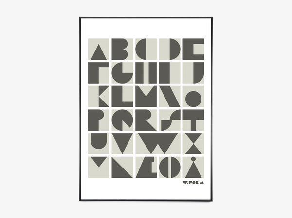 ABC Blocks Dusty Grey fra Wform