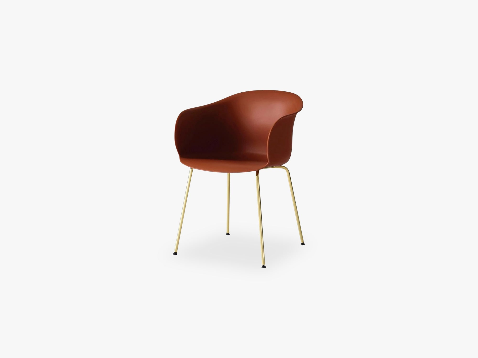 Elefy Chair JH28 Copper Brown, Brass tube base fra &tradition