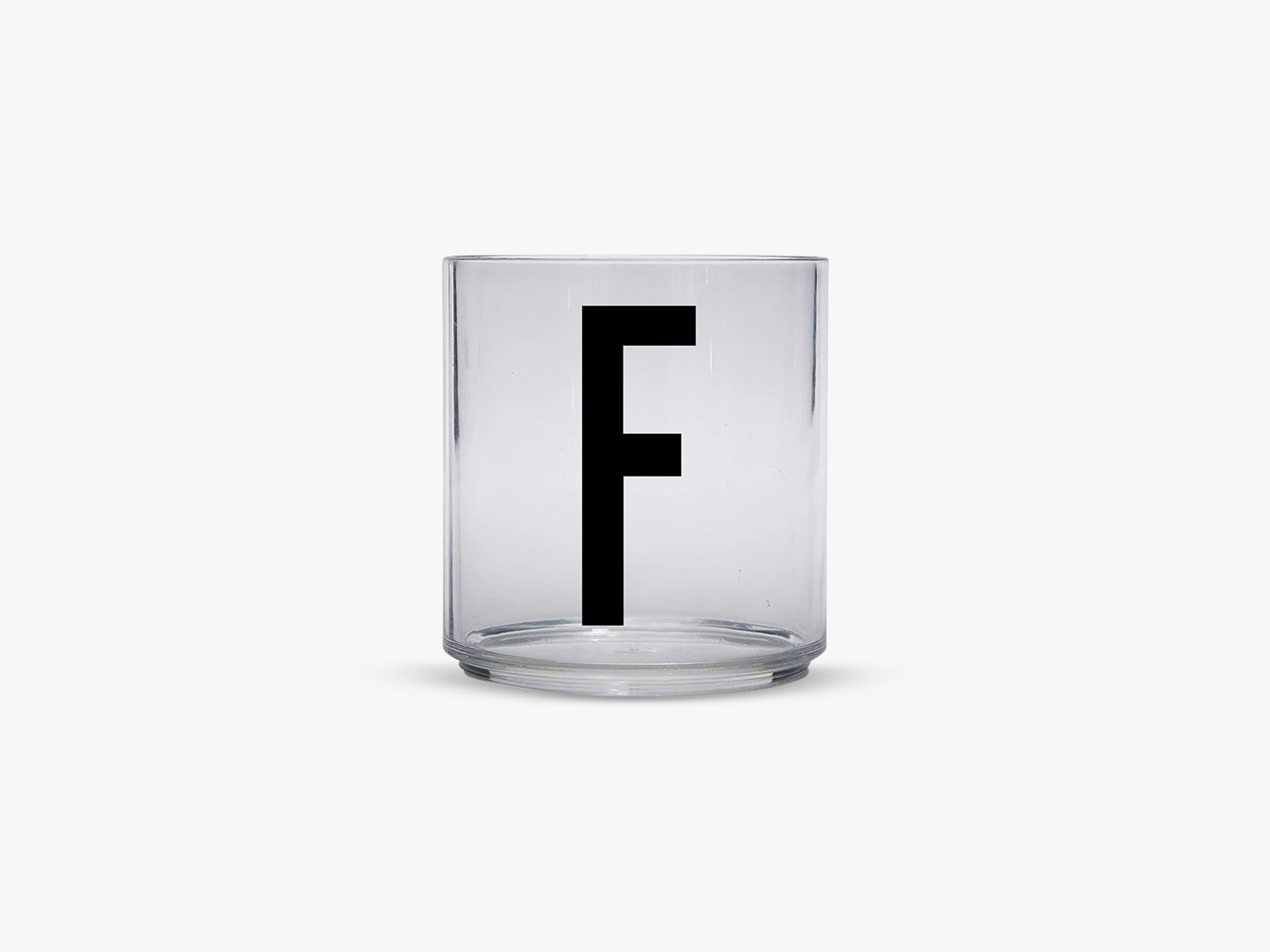 Kids personal drinking glas A-Z, F fra Design Letters