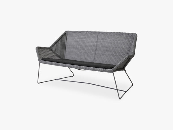 Breeze 2-Pers Loungesofa Hynde, Black fra Cane-Line