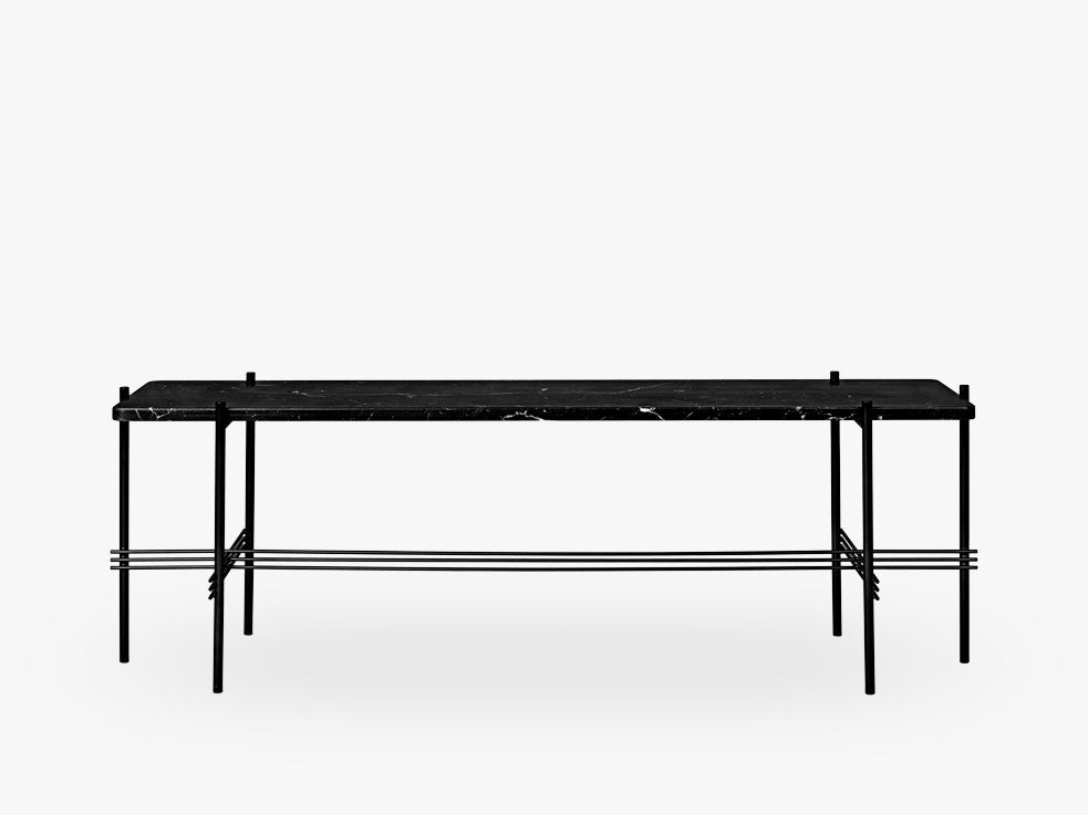 TS Console - 1 rack Black base, Marble black top fra GUBI