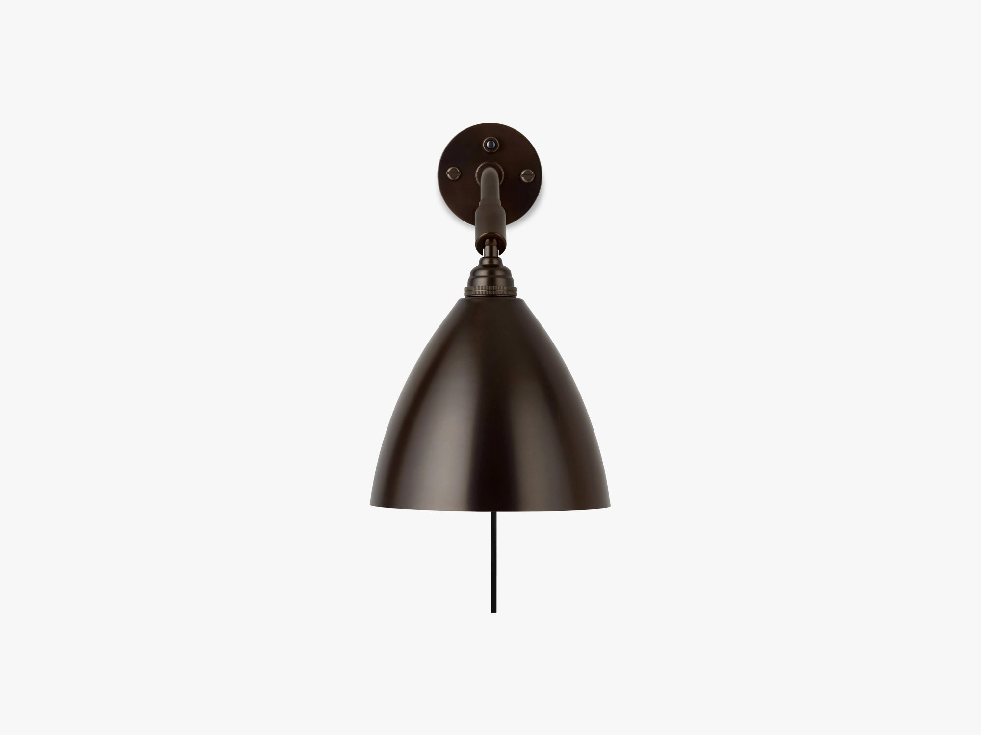 BL7 Wall Lamp - Ø16 Black Brass, Black Brass fra GUBI