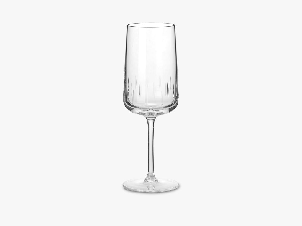 Crystal Wine Glass, Blanc fra Louise Roe