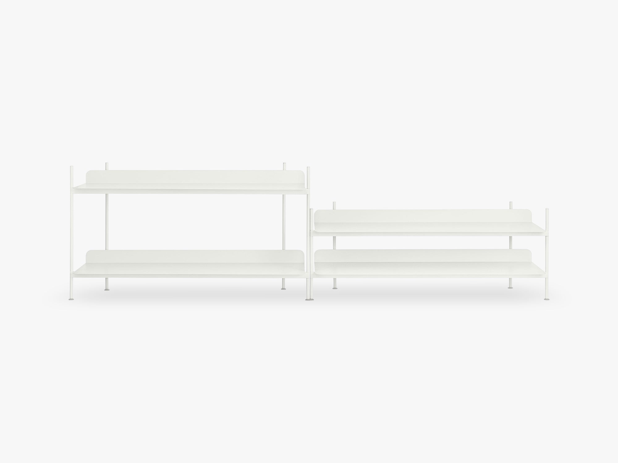 Compile Shelving System / Configuration 5, White fra Muuto