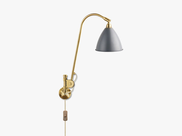Bestlite BL6 Wall Lamp - Ø16 - All Brass, Grey fra GUBI