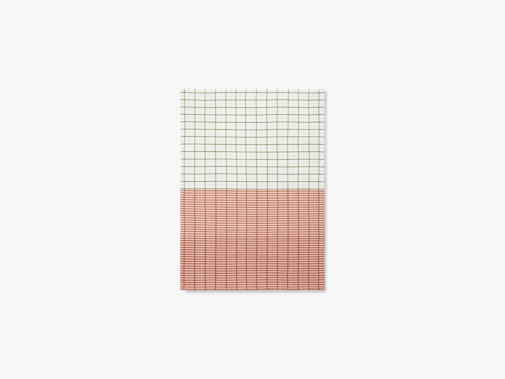 Ren viskestykke Stripe Grid, Sart grøn/spicy orange fra Normann Copenhagen