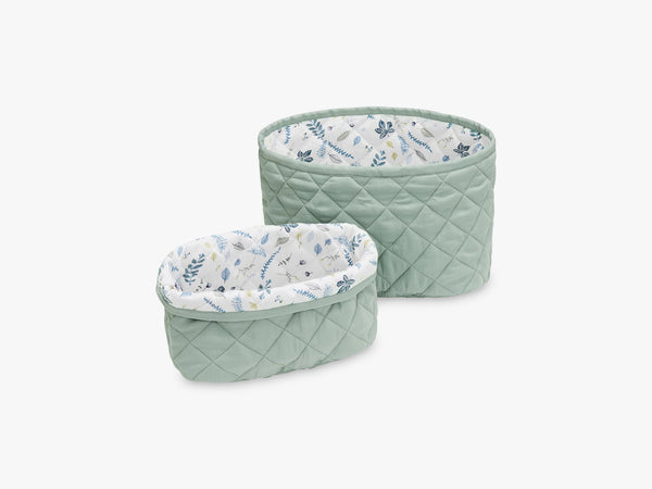 Quilted Storage Basket Set of Two, Misty Green fra Cam Cam Copenhagen