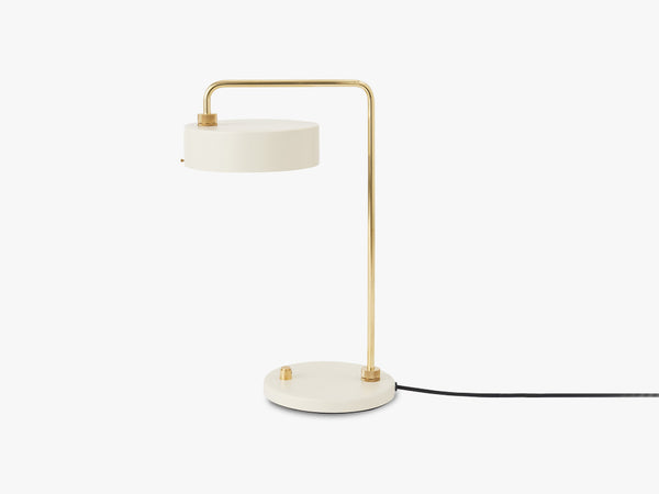 Petite Machine Table Lamp, Oyster White fra Made By Hand