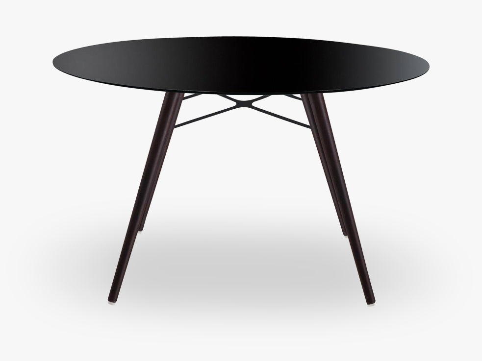 Wox table Round, Black/wenge fra Muubs
