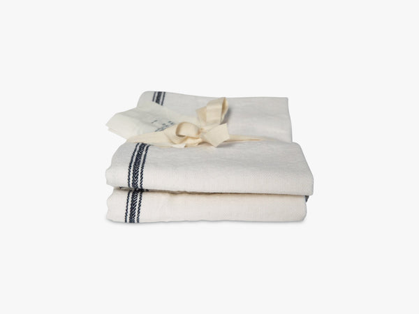 Dishtowel Paris 2pcs, Mix white/navy fra Aiayu