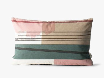 Colour Block Cushion - S - #1 fra Ferm Living