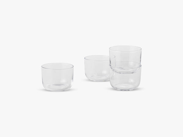Corky / Carafe & Glasses / Low, Glasses - Low - Clear fra Muuto