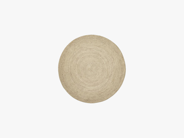 JUTE round carpet, natural fra Nordal