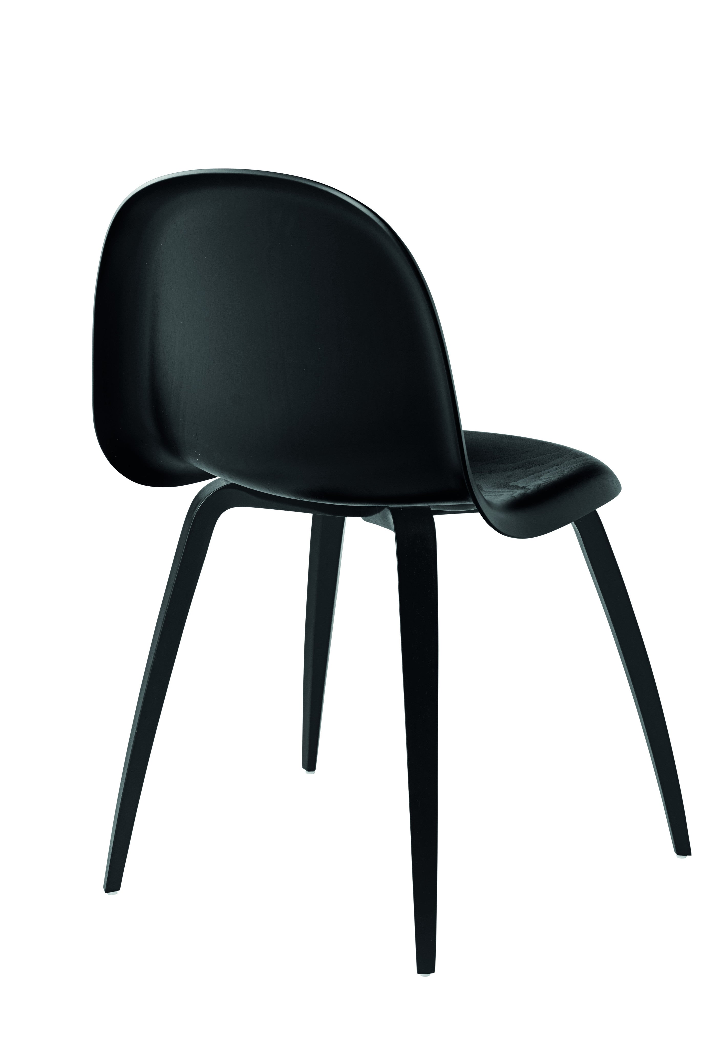 3D Dining Chair - Un-upholstered Black Stained Beech base, Black Stained Beech shell fra GUBI
