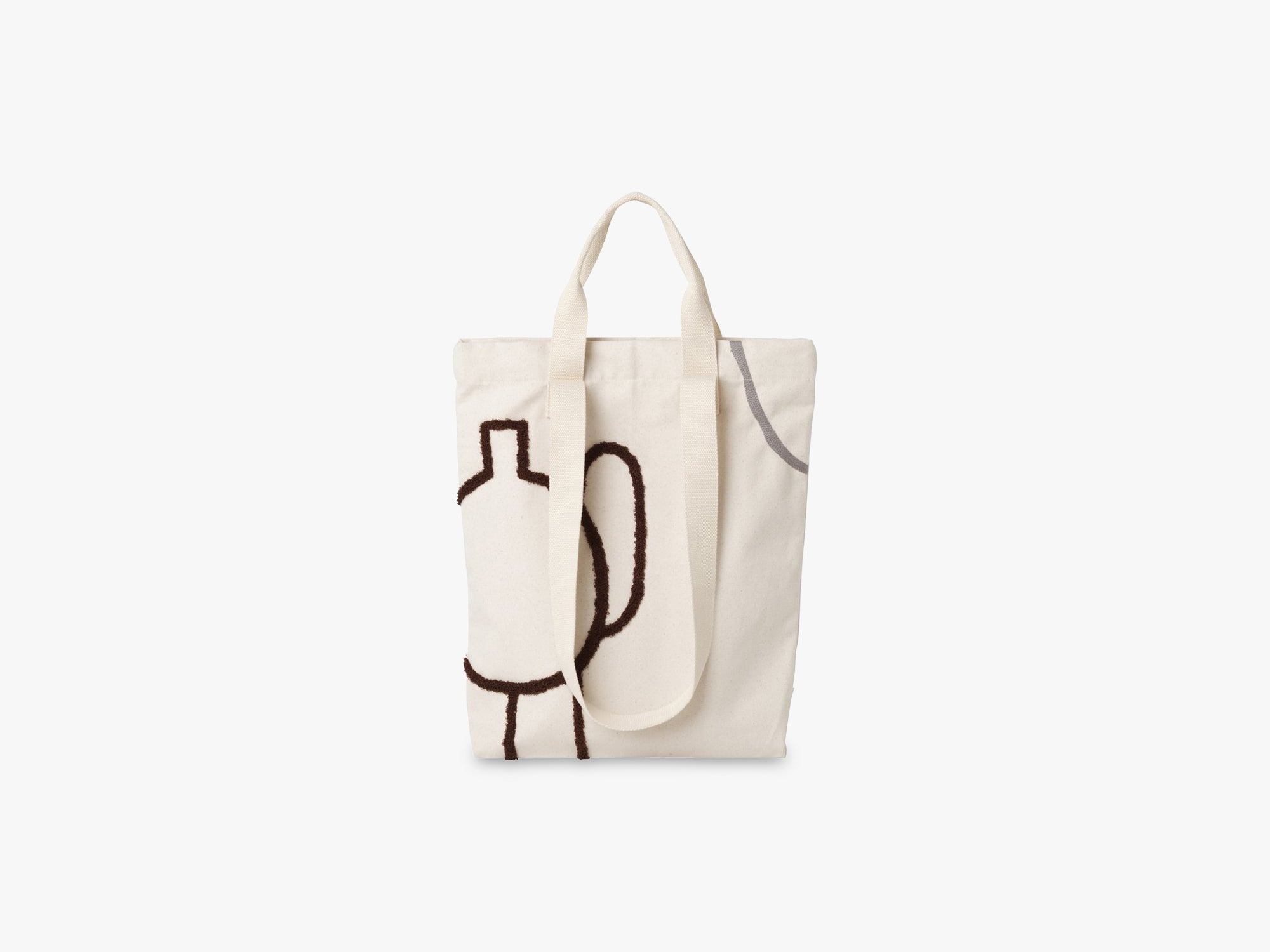Tote Bag Mirage, Brown Grey fra Ferm Living
