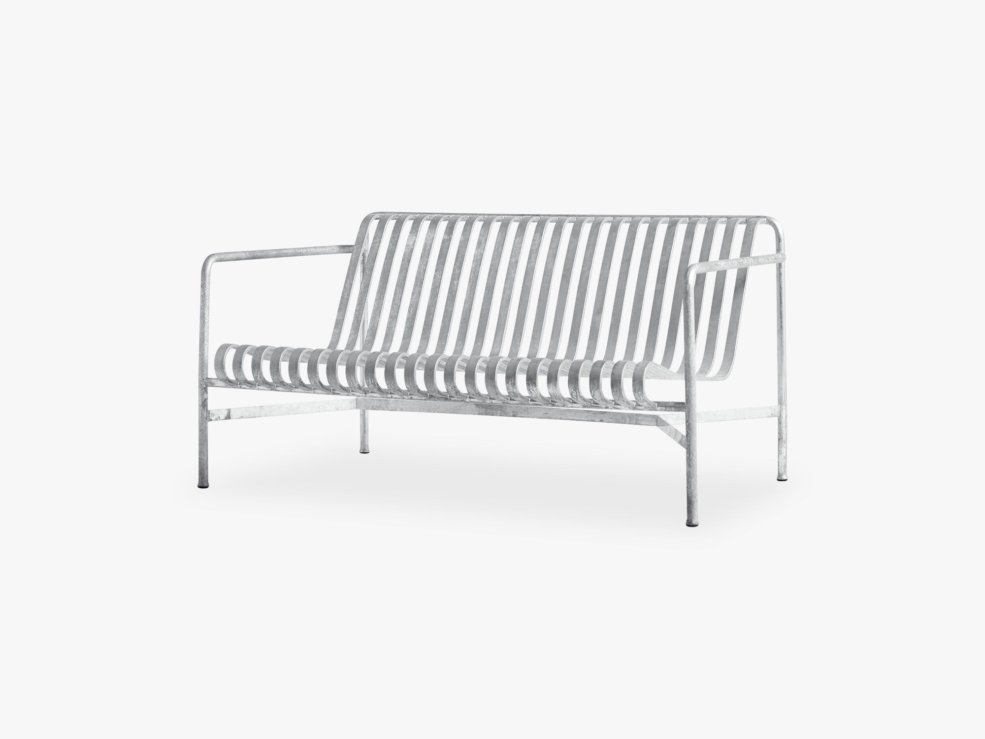 Palissade Lounge Sofa, Hot Galvanised fra HAY