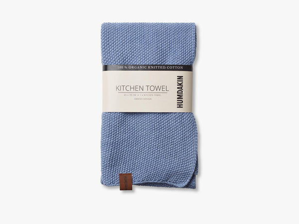 Knitted Kitchen Tea Towels, Light Blue fra HUMDAKIN