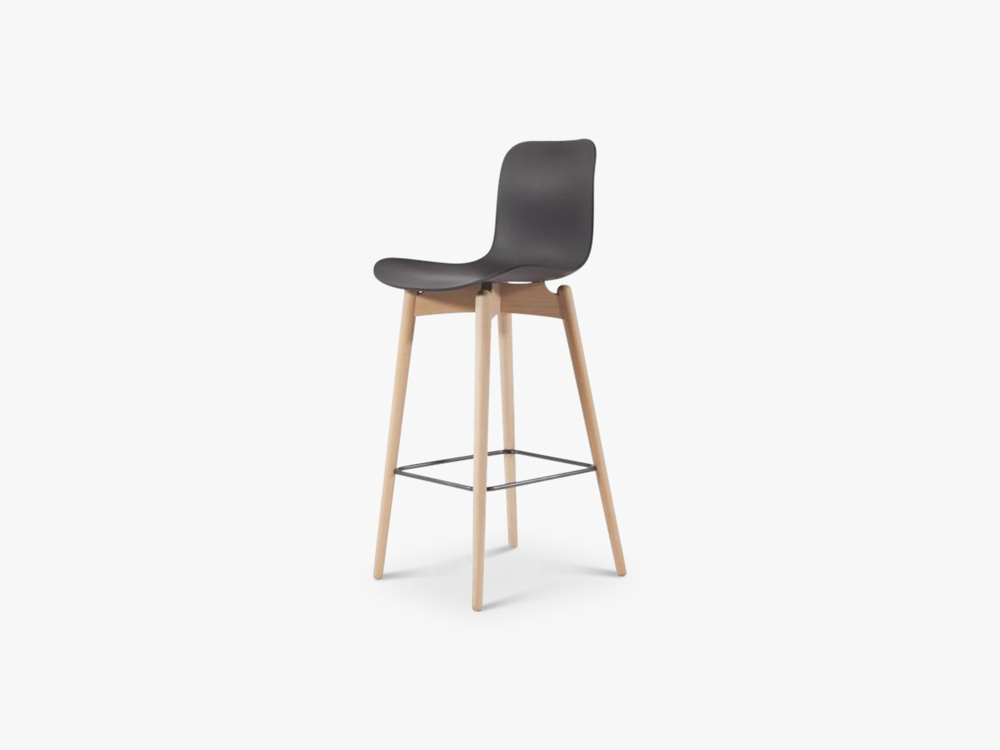 Langue Bar Chair Low, Light/Anthracite Black fra NORR11