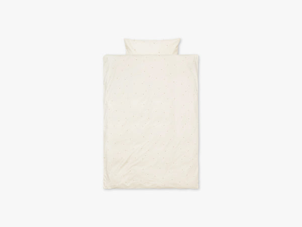 Dot Embr Bedding, Adult, Off-White fra Ferm Living