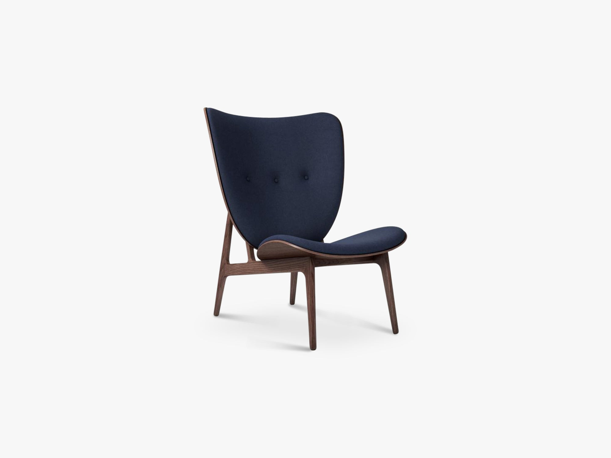 Elephant Lounge, Dark Stained/Navy Blue Wool fra NORR11