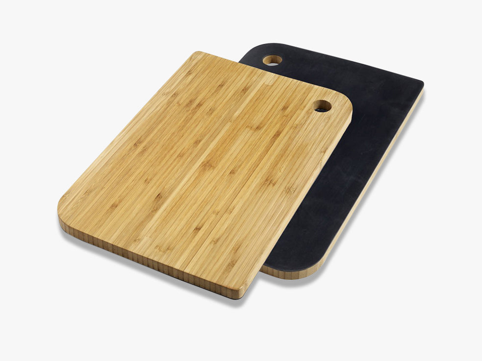 BAMBOO choppingboard w silicone, black fra Nordal
