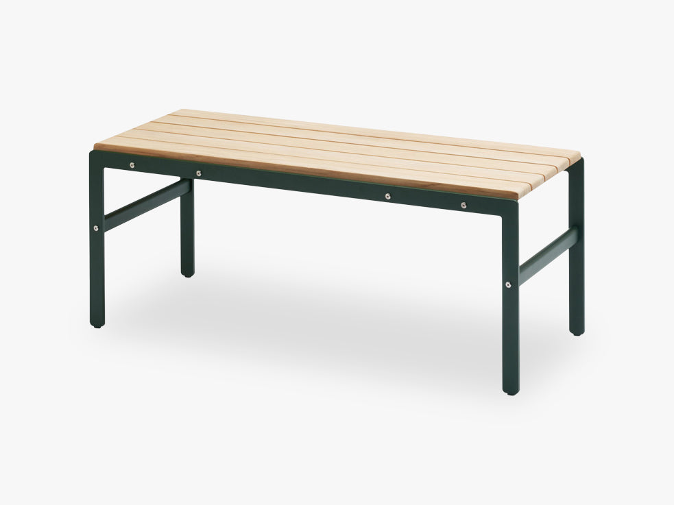 Reform Bench 110 Teak, Hunter Green fra SKAGERAK