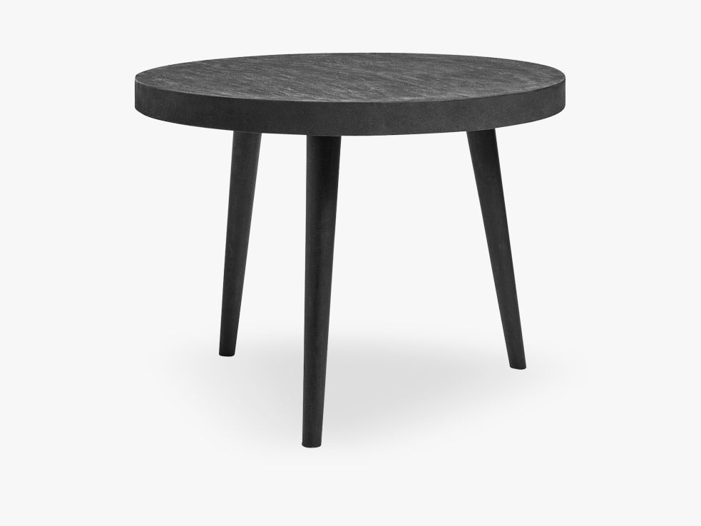 Dining table, round, black concrete/wood fra Nordal