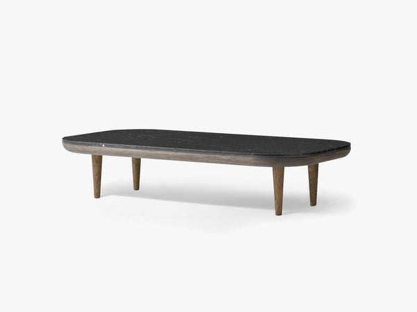 Fly table SC5 smoked oak - Honed Nero Marquina fra &tradition