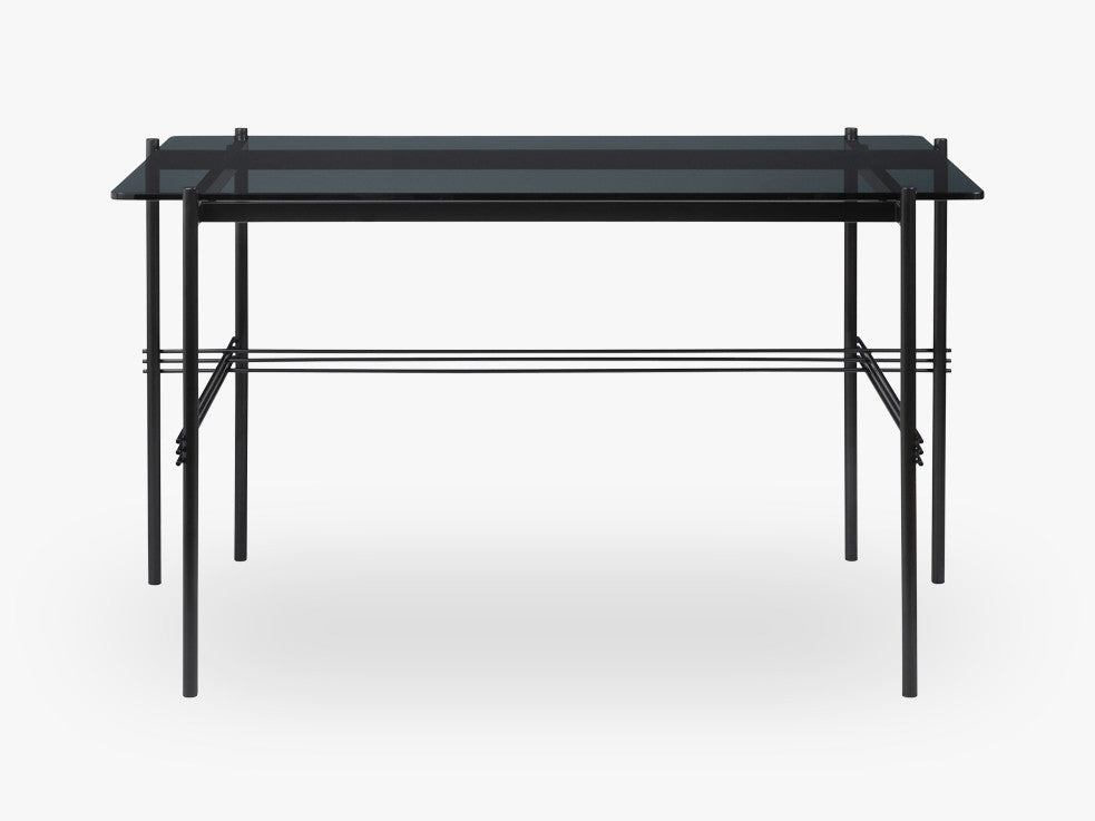 TS Desk - 120x60 Black base , Glass Smoked top fra GUBI