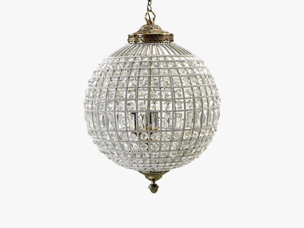 Crystal lamp, glass beads, large ball fra Nordal