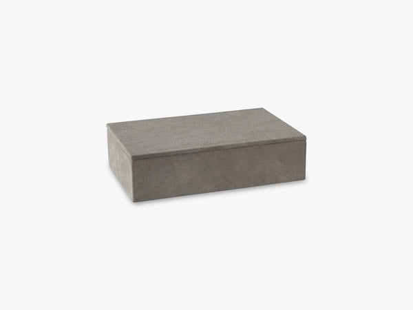Rough Small Box, Light Grey fra NTER