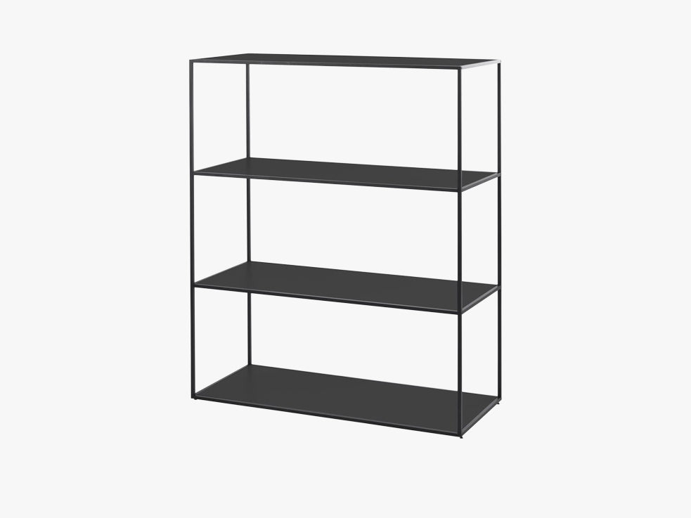 Twin bookcase large, black fra By Lassen