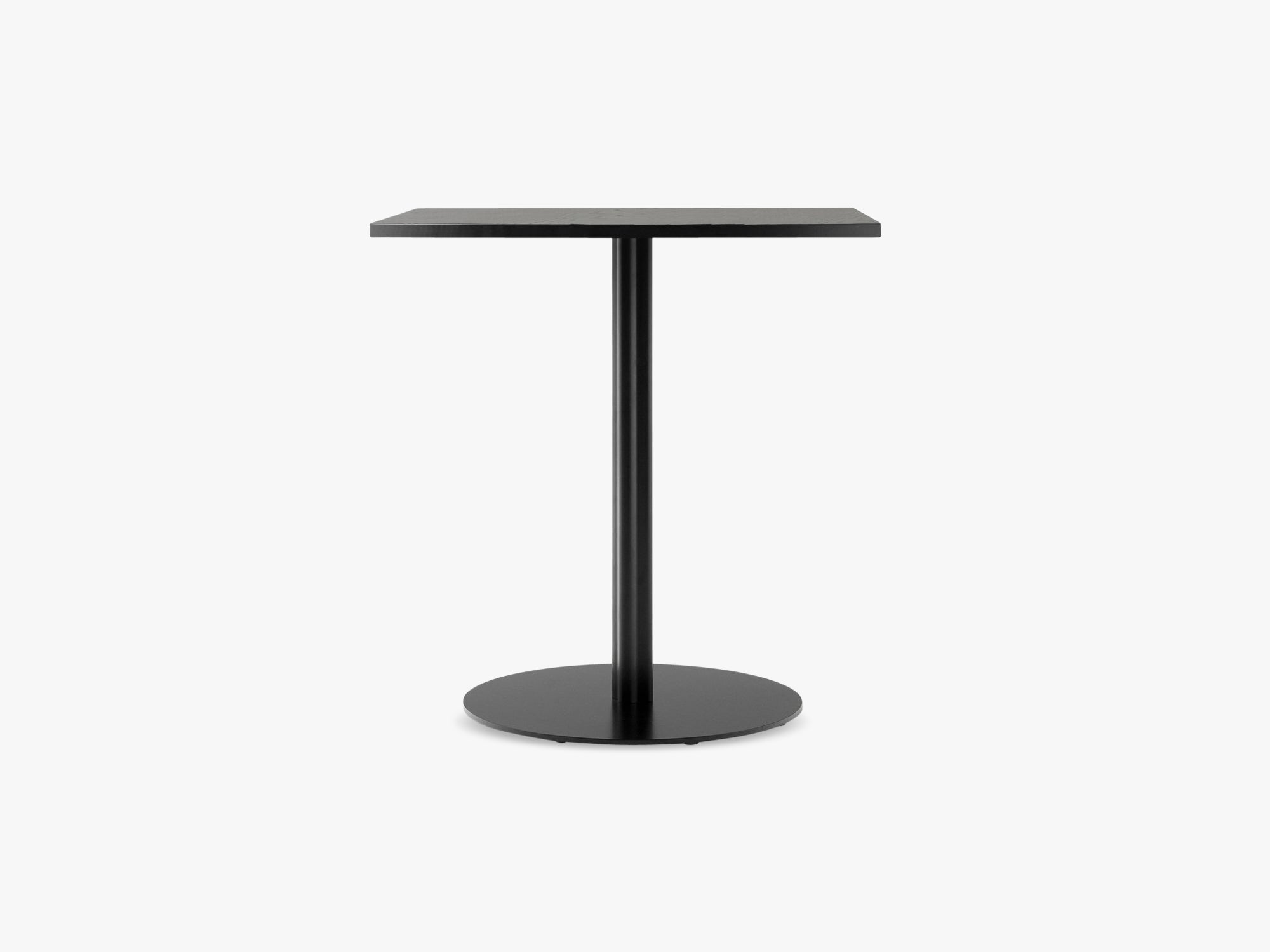 Harbour Column Dining Table 60x70 - Black Painted Oak Veneer with Black Base fra Menu