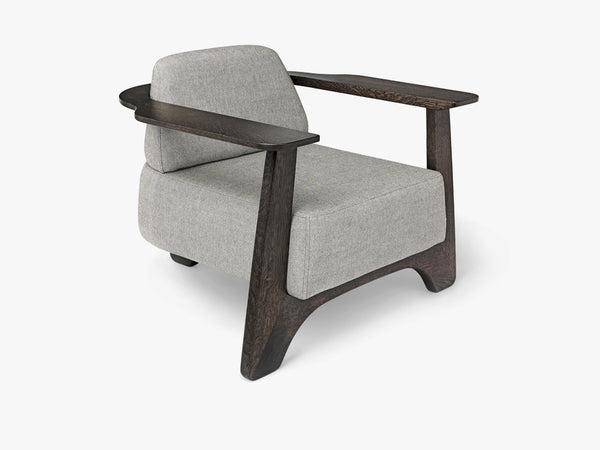 Legacy Armchair, Sirka Grey Stained Oak & Molly Textile fra Mater