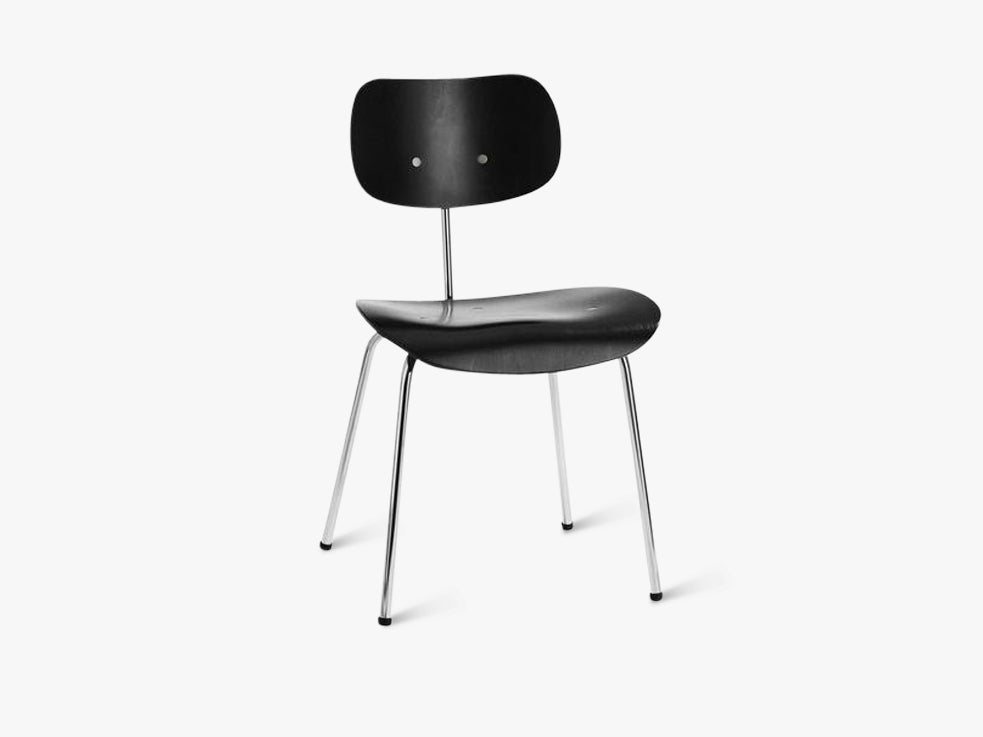 SE68, Black seat and back with Chrome base fra Egon Eiermann