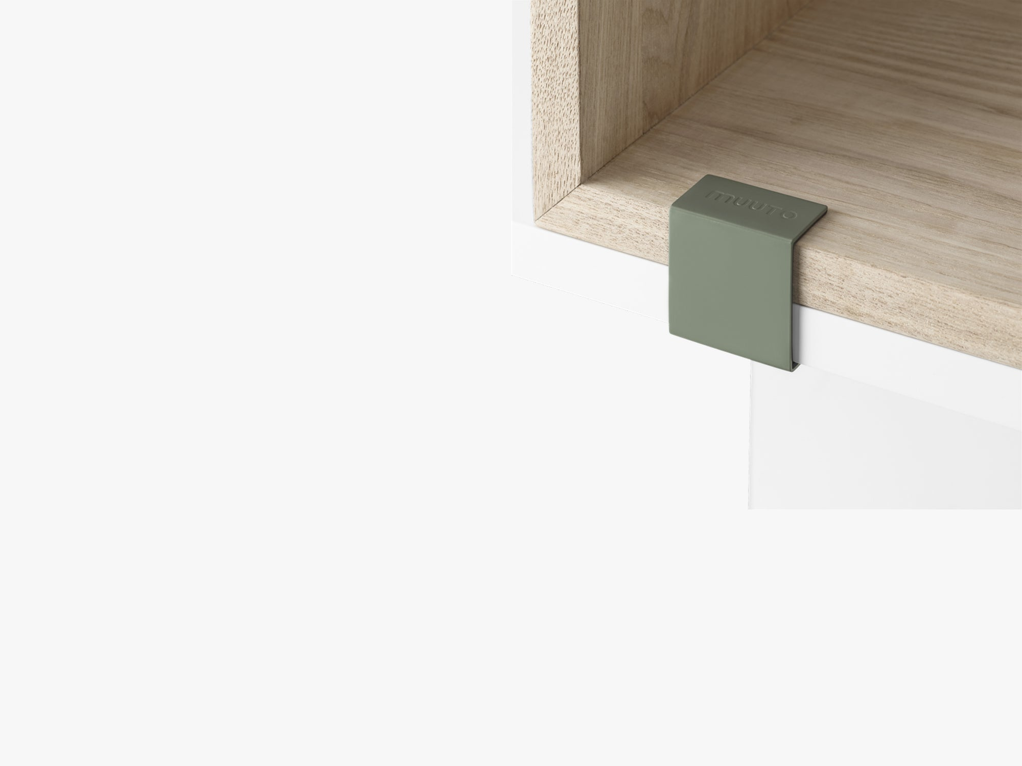 Stacked Storage System / Clips Set Of 5, Green fra Muuto
