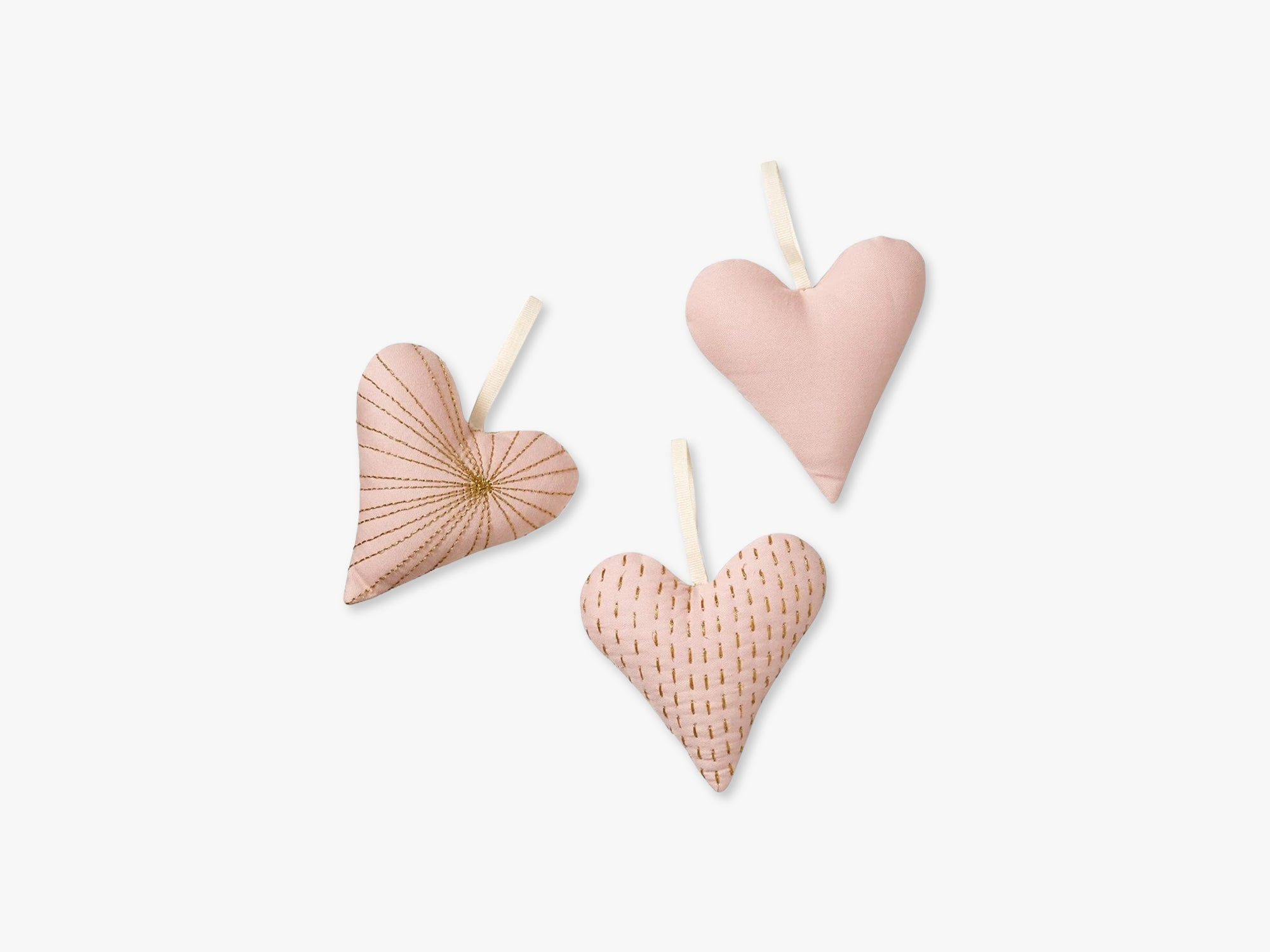 Decorative Hearts Set of 3, Blossom Pink fra Cam Cam Copenhagen