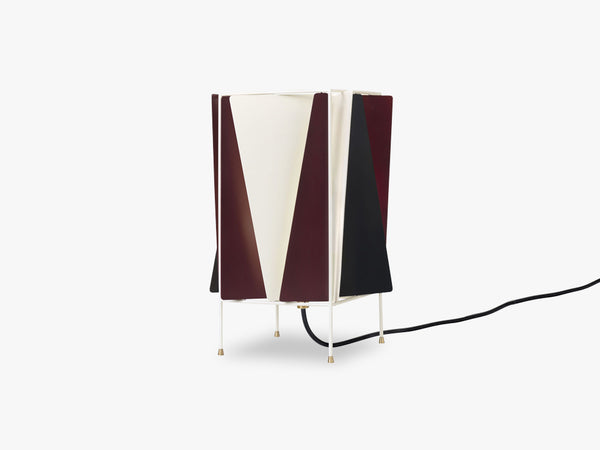 B-4 Table Lamp, Wine Red Semi Matt fra GUBI