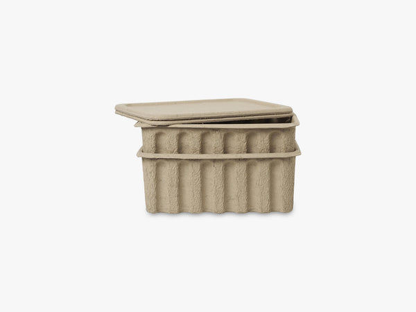 Paper Pulp Box large, set of 2, Brown fra Ferm Living
