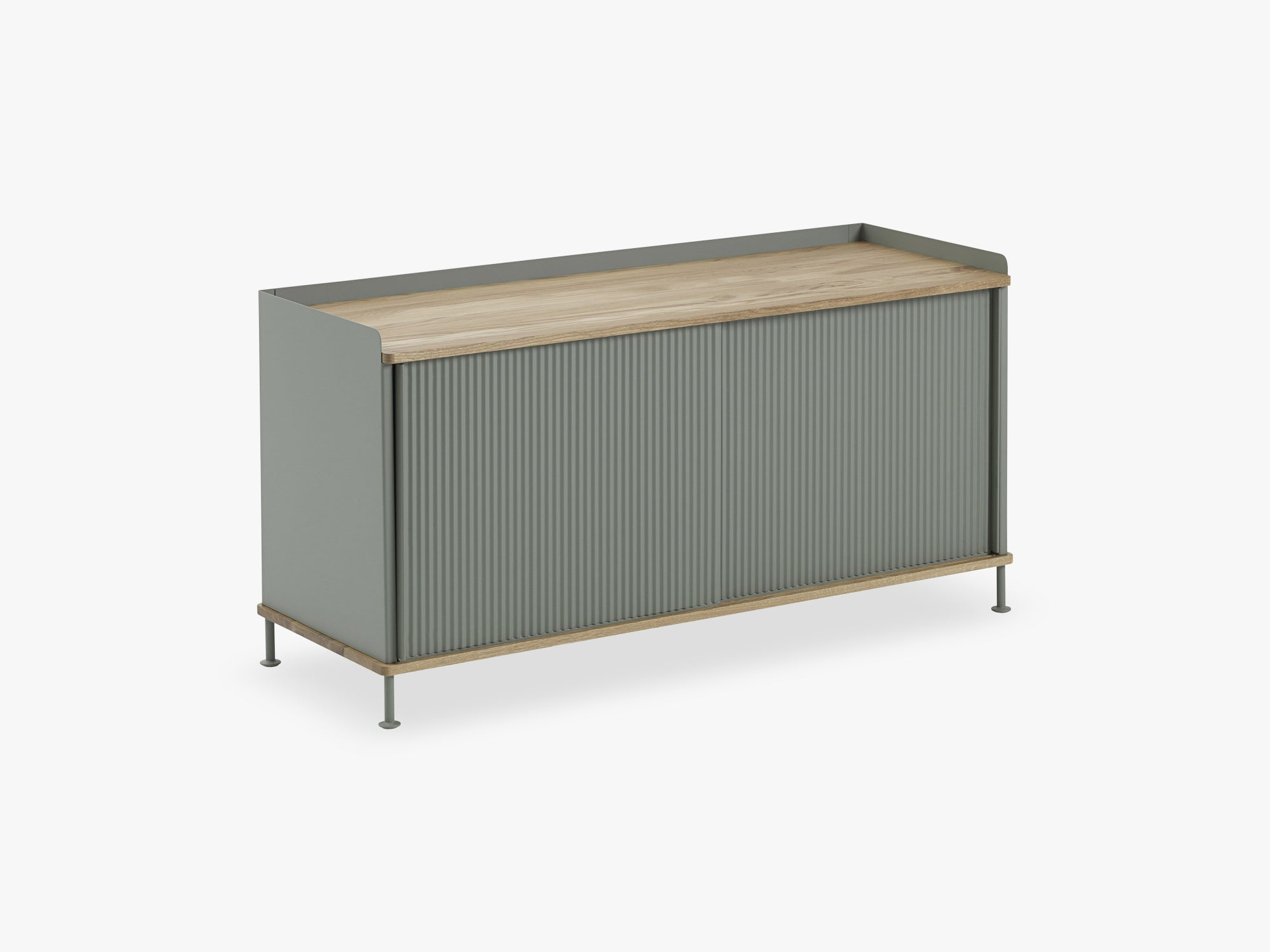 Enfold Sideboard / Low, Oak/Dusty Green fra Muuto