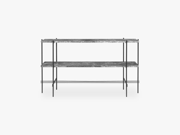 TS Console - 2 rack - Black base, Marble Grey top fra GUBI