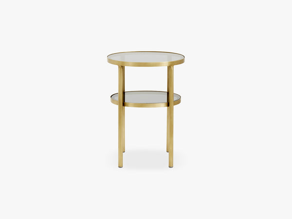 Oval side table, small, golden/black fra Nordal