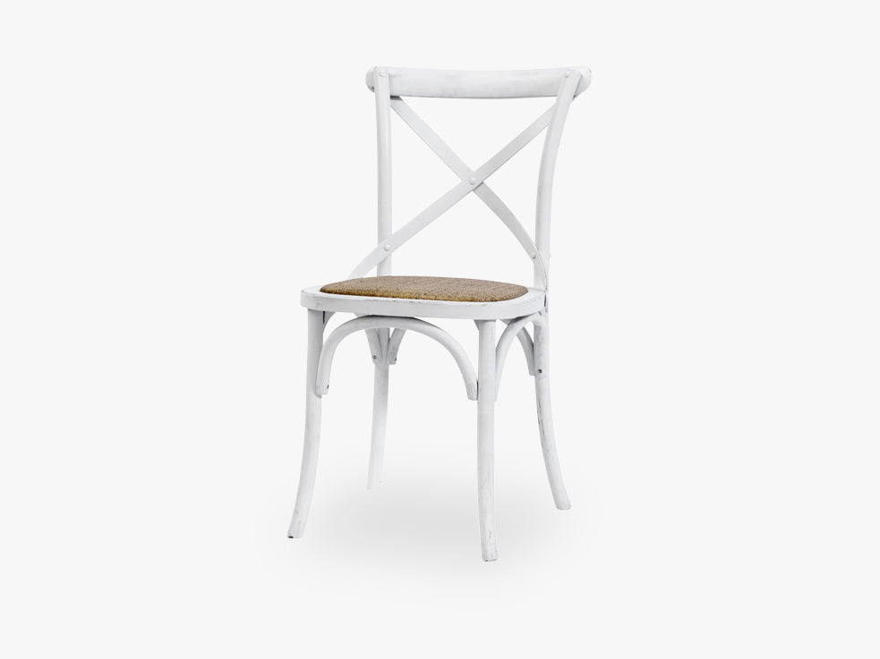 Dinner chair X, white, wooden fra Nordal
