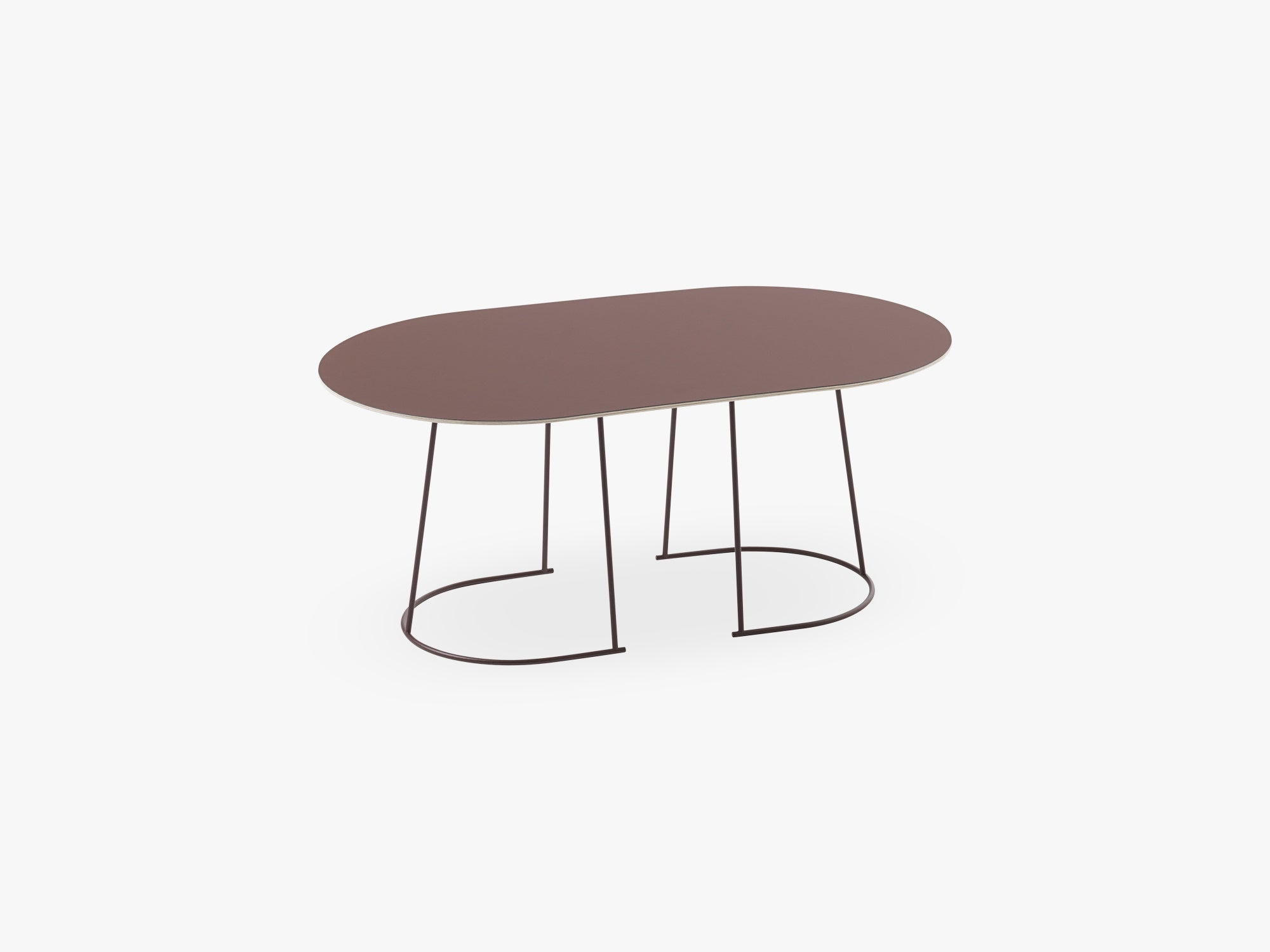 Airy Coffee Table - Medium, Plum - Nanolaminate fra Muuto